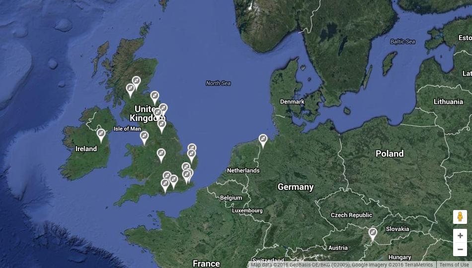 Wild Grey Reintroduction Map